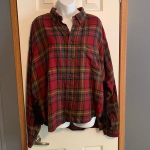 LF Furst of a Kind womens one size Plaid Flannel
